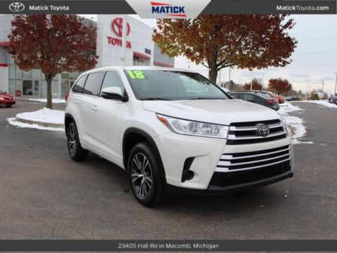 Pre-Owned 2018 Toyota Highlander LE FWD 4D Sport Utility